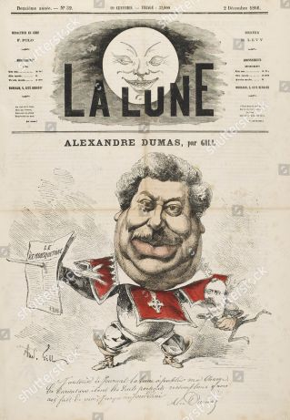 Mandatory Credit: Photo by Historia/Shutterstock (7665080wx) Alexandre Dumas (pere) French Writer 1802 - 1870 Historical Collection 18