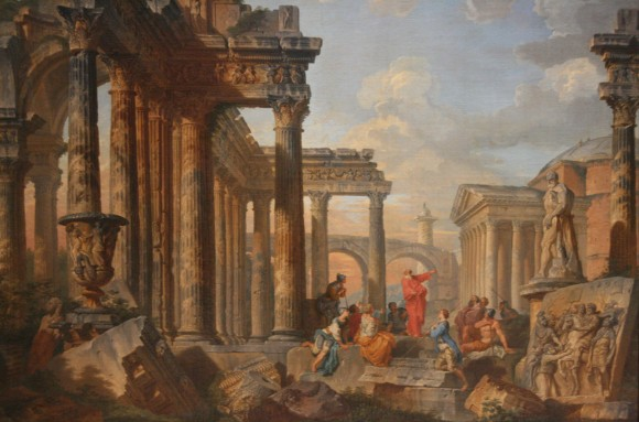Giovanni_Paolo_Panini_Ruines_avec_prédicateur