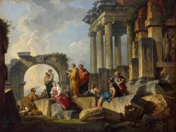 Giovanni_Paolo_Pannini_-_Apostle_Paul_Preaching_on_the_Ruins_-_WGA16977