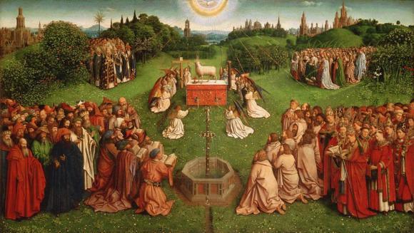 La adoración del Cordero de Van Eyck