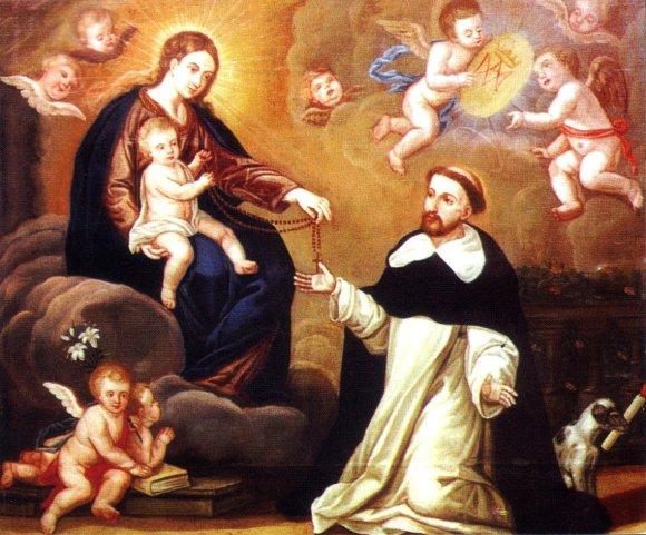 maria-entrega-el-rosario-a-santo-domingo