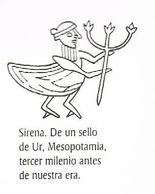 sirena con tridente mesopotamia