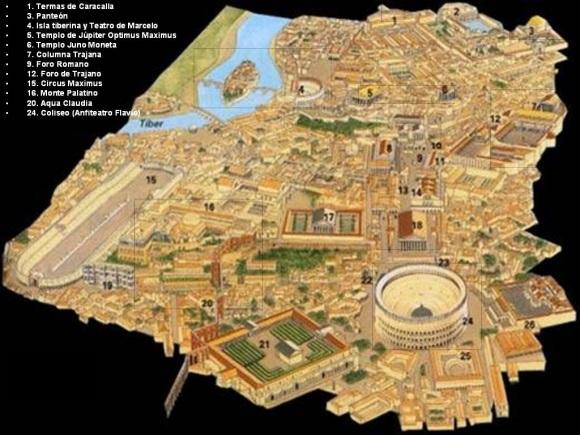 calles y barrios antigua roma