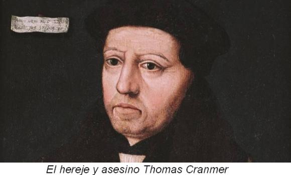 Resultado de imagen para cranmer excomulgado
