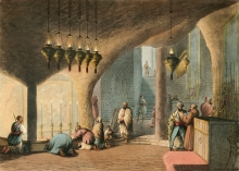 The Grotto of the Nativity from Views in the Ottoman Dominions, in Europe, in Asia, and some of the Mediterranean islands (1810) illustrated by Luigi Mayer (1755-1803).