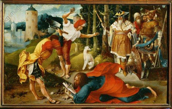 J.de Beer, Marter des Apostels Matthias - Martyrdom of St.Matthew / Beer / c.1530 -