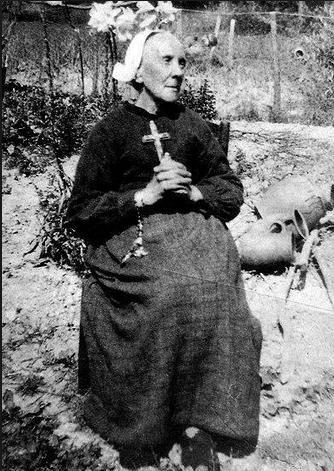Marie Julie Jahenny in her garden
