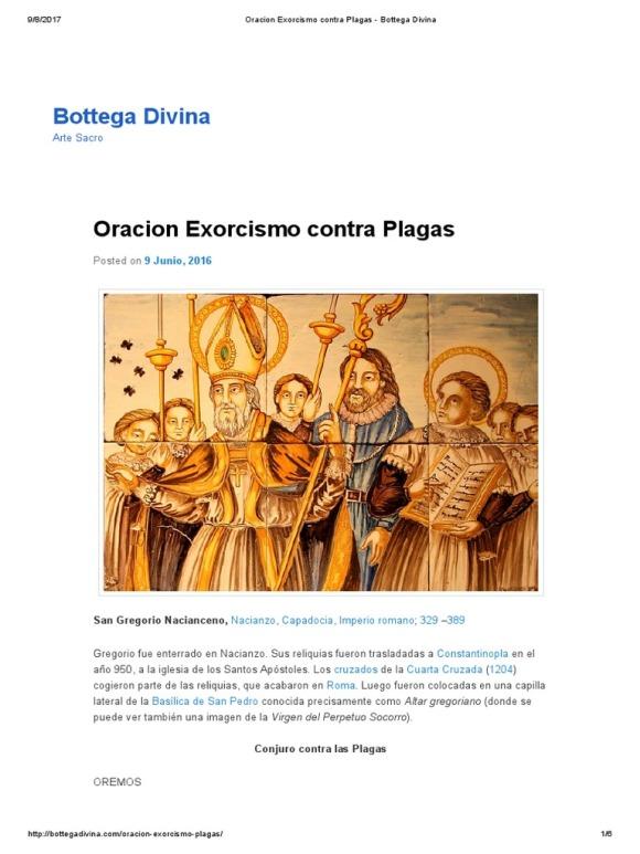 Gregorio plagas